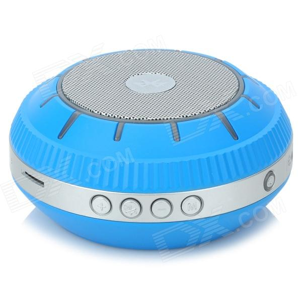 EWA E305 Portable 5W Wireless Bluetooth V2.0 Stereo Speaker w/ Mic / TF - Blue + Silver Grey original xiaomi mi bluetooth speaker wireless stereo mini portable mp3 player pocket audio support handsfree tf card