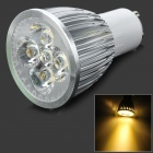 MeFire GU10 5W 300lm 3500K 5-LED Warm White Spotlight - White + Silver (AC 85~265V)