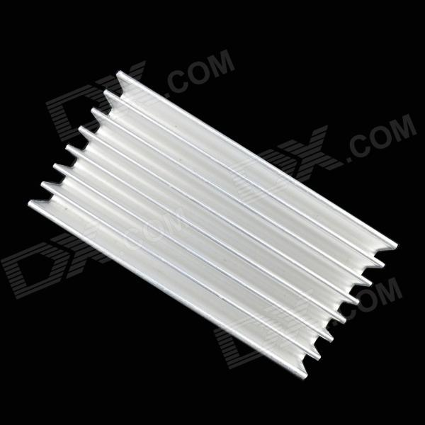 Jtron High Quality Heatsink / MOS Tube and So Radiator - Silver (100 x 51 x 23mm)