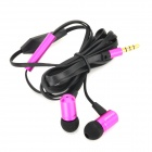OVLENG iP820 High Resolution Bass In-Ear Earphones w/ Microphone for Iphone / Ipad - Black + Purple