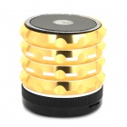 AB-K2 Stylish 4-in-1 Bluetooth V3.0 Stereo Speaker w/ Handsfree Call / TF / FM / AUX - Golden