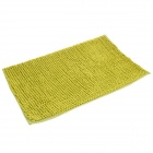 Anti-slip Water Absorption Soft Plush Bedroom Carpet Doormat - Yellowish Green (Size-L)