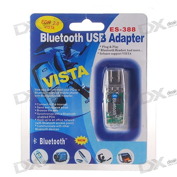 Bluetooth 1.2 USB 1.1 Dongle Adapter (Translucent Black)