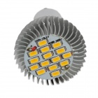 XinYiTong GU10 7W 600lm 3000K 15 x SMD 5630 LED Ampoule blanche chaude - Argent + Blanc (85 ~ 265V)
