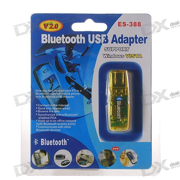 Bluetooth 1.2 USB 1.1 Dongle Adapter (Translucent Yellow)