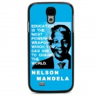 Mandela Protective Case / Super PC & Aluminum Alloy Back Case for Samsung Galaxy S4 - Blue + Black