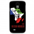 Mandela Protective Case / Super PC & Aluminum Alloy Back Case for Samsung Galaxy S4 - Black + White