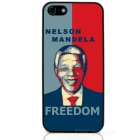 Mandela Protective Case / Super PC & Aluminum Alloy Back Case for Iphone 5 / 5s - Red + Blue