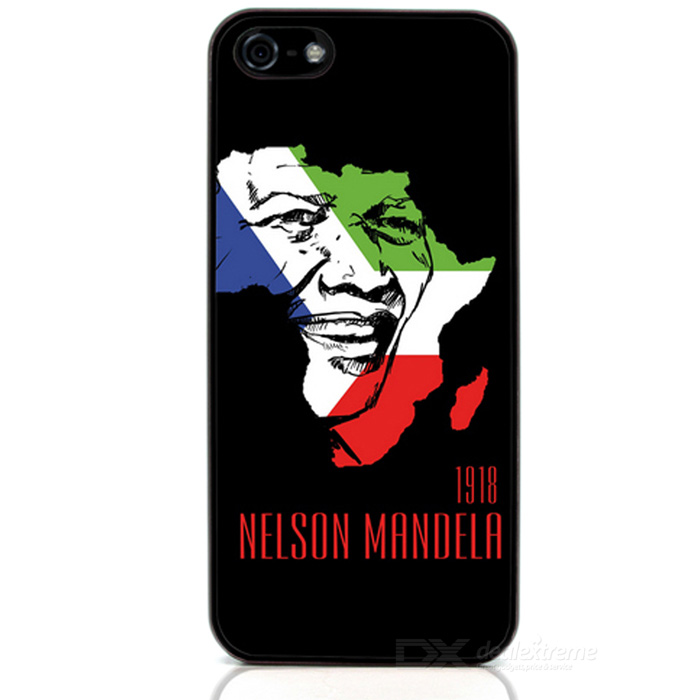 Mandela Protective Case / Super PC & Aluminum Alloy Back Case for Iphone 5 / 5s - Black + White
