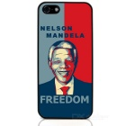 Mandela Protective Case / Super PC & Aluminum Alloy Back Case for Iphone 5 / 5s - Blue + Black
