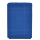 Ball Pattern and Line Pattern PU Protective Case w/ Stand for Ipad MINI 2 - Blue