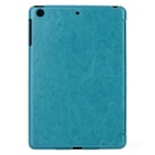Multi-folding Protective PU Leather Case w/ Auto Sleep for Ipad MINI 2 - Blue