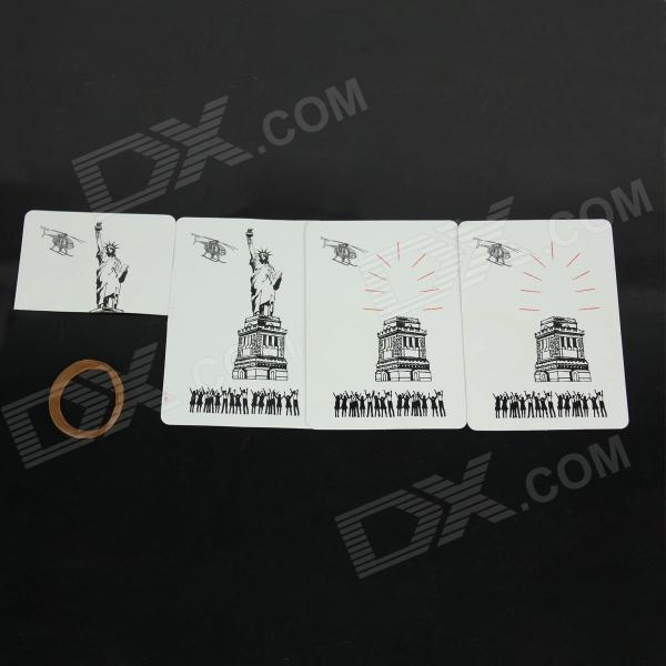 The Statue of Liberty Disappear Magic Props - White + Black