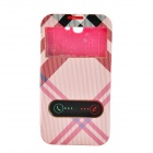 Irregular Texture Back Case Cover w/ Visual Window / Slide to unlock for Samsung Galaxy Note 2 -Pink