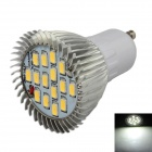 XinYiTong UG10 7W 600lm 6500K 15-SMD 5630 LED White Spotlight Bulb - Silver + White (85~265V)