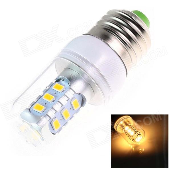 E27 6W 250lm 2500K 15 x SMD 5730 LED Warm White Light Lamp Bulb - White (AC 220~240V) lexing lx qp 20 e14 6w 470lm 3500k 15 5730 smd led warm white light dimmable lamp ac 220 240v