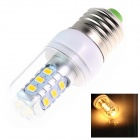 E27 6W 250lm 2500K 15 x SMD 5730 LED Warm White Light Lamp Bulb - White (AC 220~240V)