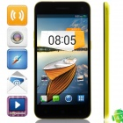 "M Pai 809T MTK6582 Quad-core Android 4.3 WCDMA Bar Phone w/ 5.0""HD, 4GB ROM, GPS - Black + Yellow"