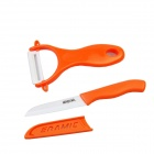 "BESTLEAD 3"" Zirconia Ceramic Knife + Peeler Set - Orange + White"