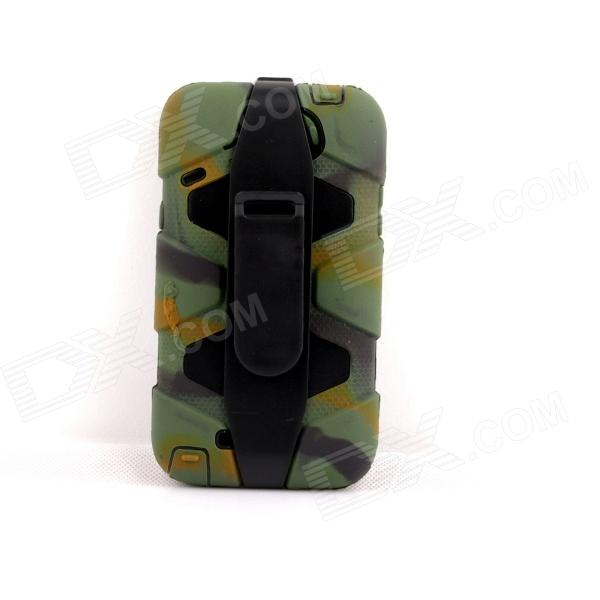 PANNOVO Silicone Shockproof Fallproof Dustproof Case for Samsung Galaxy Note 2 - Camouflage Green pannovo silicone shockproof fallproof dustproof case for samsung galaxy note 3 camouflage green