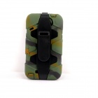 PANNOVO Silicone Shockproof Fallproof Dustproof Case for Samsung Galaxy Note 2 - Camouflage Green