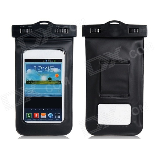 20m Waterproof Bag Case for 5.7 Cell Phone / Samsung Galaxy Note 3 N9000 - Black universal nylon cell phone holster blue black size l