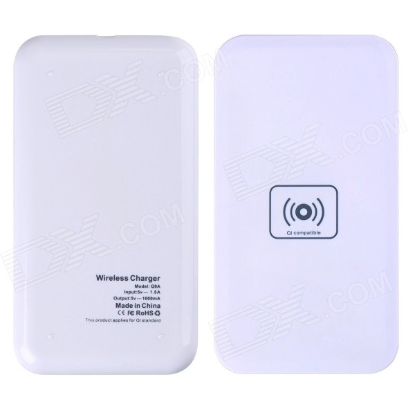 Q9A 5V 1A Wireless Micro USB Charger for Samsung Galaxy S4 / Nokia Lumia 920 / 820 + More - White
