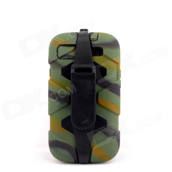 PANNOVO Silicone Shockproof Fallproof Dustproof Case for Samsung Galaxy S3 i9300 - Camouflage Green pannovo silicone shockproof fallproof dustproof case for samsung galaxy note 3 camouflage green