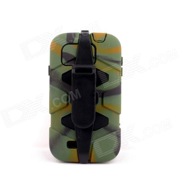 PANNOVO Silicone Shockproof Fallproof Dustproof Case for Samsung Galaxy S4 i9500 - Camouflage Green pannovo silicone shockproof fallproof dustproof case for samsung galaxy note 3 camouflage green