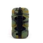 PANNOVO Silicone Shockproof Fallproof Dustproof Case for Samsung Galaxy S4 i9500 - Camouflage Green