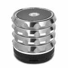 AB-K2 Stylish 4-in-1 Bluetooth V3.0 Stereo Speaker w/ Handsfree Call / TF / FM / AUX - Grey + Black