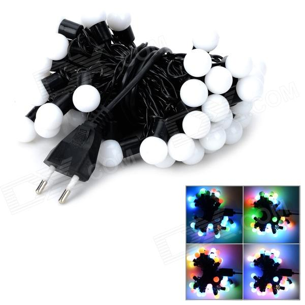 Kakashi PL-01 Ball Style Decorative 8W 280lm 50-LED RGB Light String w/ Controller (220V / EU Plug)