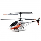 IA 8981 AC Rechargeable 4-Channel R/C Helicopter w/ Gyroscope - White + Orange Red