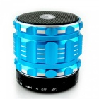 Stylish 4-in-1 Bluetooth V3.0 Stereo Speaker w/ Handsfree Call / TF / FM / AUX - Blue + Black