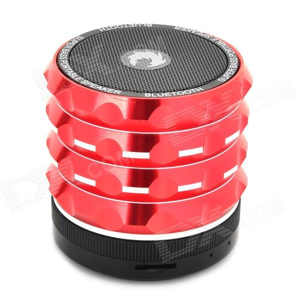 AB-K2 Stylish 4-in-1 Bluetooth V3.0 Stereo Speaker w/ Handsfree Call / TF / FM / AUX - Red + Black original xiaomi mi bluetooth speaker wireless stereo mini portable mp3 player pocket audio support handsfree call tf card aux in