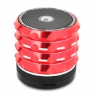 AB-K2 Stylish 4-in-1 Bluetooth V3.0 Stereo Speaker w/ Handsfree Call / TF / FM / AUX - Red + Black
