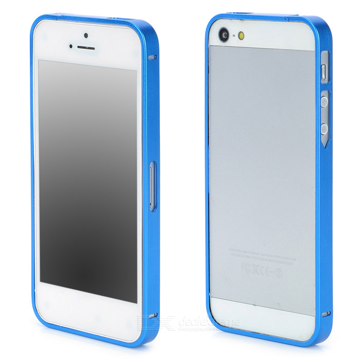 S-What Ultrathin Protective Aluminum Alloy Bumper Frame for Iphone 5 / 5s - Blue s what ultrathin protective aluminum alloy bumper frame for iphone 4 4s black