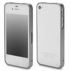S-What Ultrathin Protective Aluminum Alloy Bumper Frame for Iphone 4 / 4s - Grey