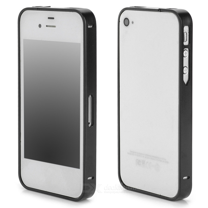 S-What Ultrathin Protective Aluminum Alloy Bumper Frame for Iphone 4 / 4s - Black