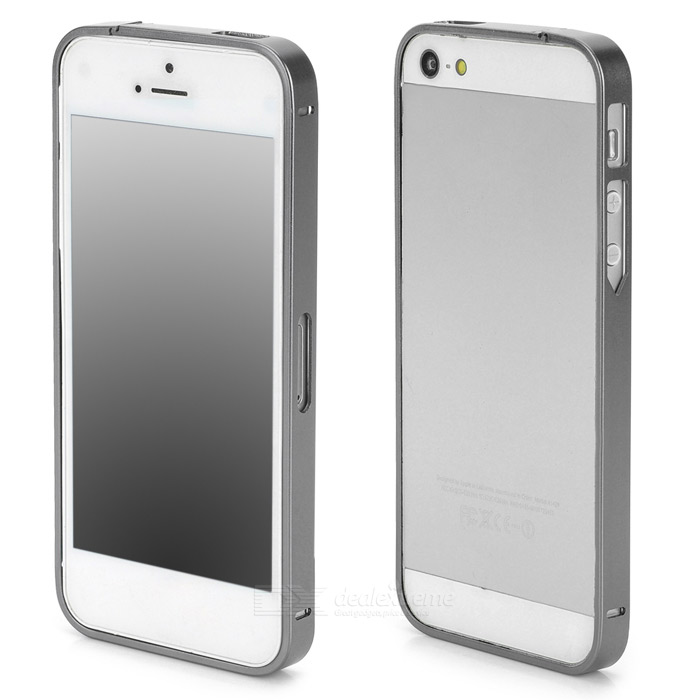 S-What Ultra-Slim Aluminum Alloy Bumper Frame Case for Iphone 5 / 5s - Grey