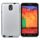 Protective Aluminum Alloy + Silicone Case for Samsung Galaxy Note 3 N9000 / N9005 / N9002 - Silver