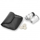 9882 60X Mini Plastic + Optical Glass Lens Magnifier w/ Money Detector