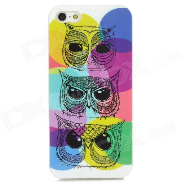 Colorful Owl Style Protective TPU Back Case for Iphone 5 - Multicolor cute owl pattern tpu back case for iphone 6 plus 5 5 yellow orange multi color