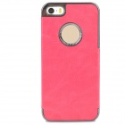 Y-2 Protective PC + Genuine Leather Case for Iphone 5S - Deep Pink