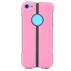 S-What Protective TPU + PC Back Case for Iphone 5C - Pink + Black