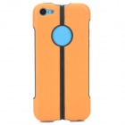 S-What Protective TPU + PC Back Case for Iphone 5C - Orange + Black