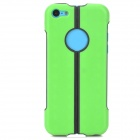 S-What Protective TPU + PC Back Case for Iphone 5C - Green + Black