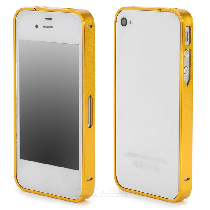 S-What Ultrathin Protective Aluminum Alloy Bumper Frame for Iphone 4 / 4s - Golden s what ultrathin protective aluminum alloy bumper frame for iphone 4 4s black