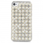 Protective Pearl Rhinestone Case for Iphone 4 / 4s - White