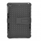 Tyre Tread Style Protective TPU + PC Back Case w/ Stand for Retina Ipad MINI - Black